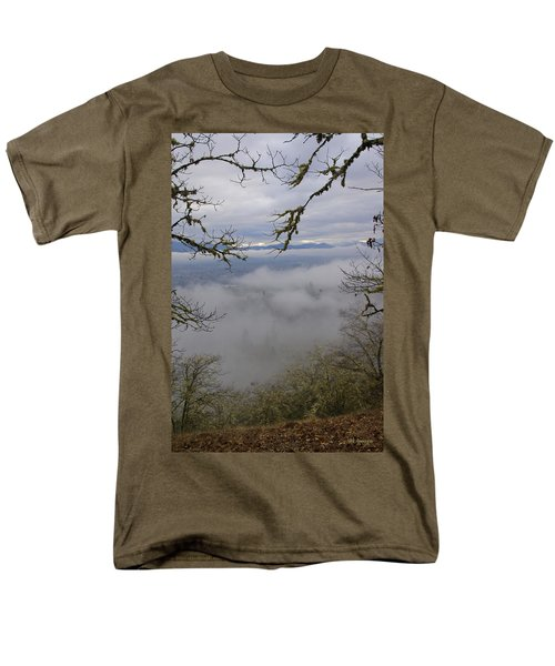 Grants Pass In The Fog Men's T-Shirt  (Regular Fit) by Mick Anderson