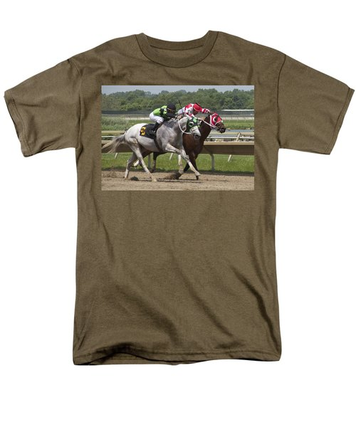 Men's T-Shirt  (Regular Fit) featuring the photograph Gray Vs Bay by Alice Gipson