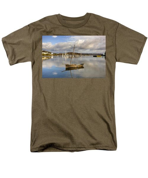 Harbour In Tarbert Scotland, Uk Men's T-Shirt  (Regular Fit) by John Short