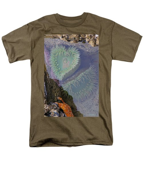 Men's T-Shirt  (Regular Fit) featuring the photograph Heart Of The Tide Pool by Mick Anderson