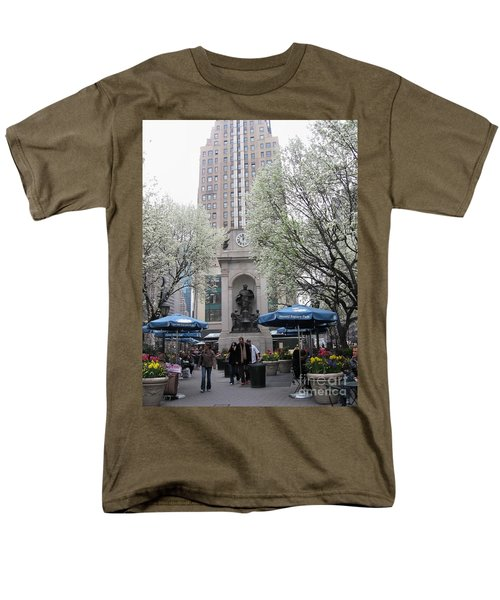 Men's T-Shirt  (Regular Fit) featuring the photograph Herald Square by Dora Sofia Caputo Photographic Art and Design