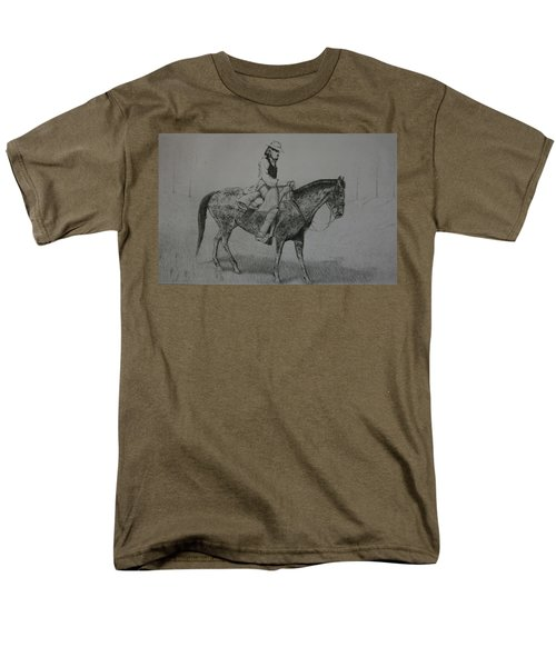 Men's T-Shirt  (Regular Fit) featuring the drawing Horseman by Stacy C Bottoms