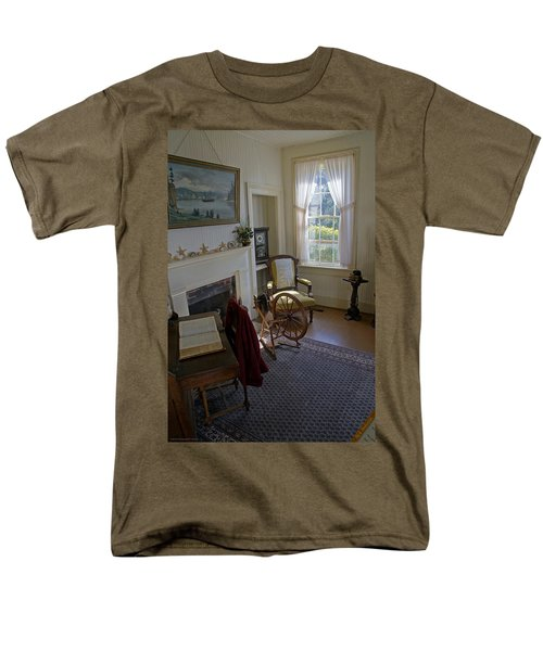 Men's T-Shirt  (Regular Fit) featuring the photograph Inside Yaquina Bay Lighthouse by Mick Anderson