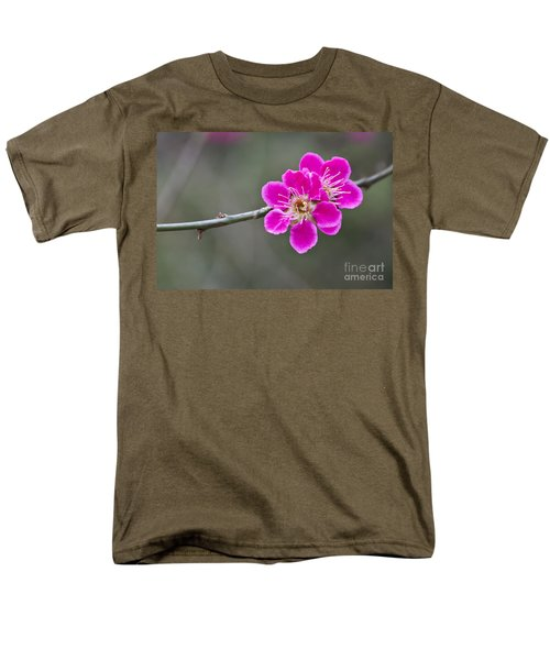 Men's T-Shirt  (Regular Fit) featuring the photograph Japanese Flowering Apricot. by Clare Bambers