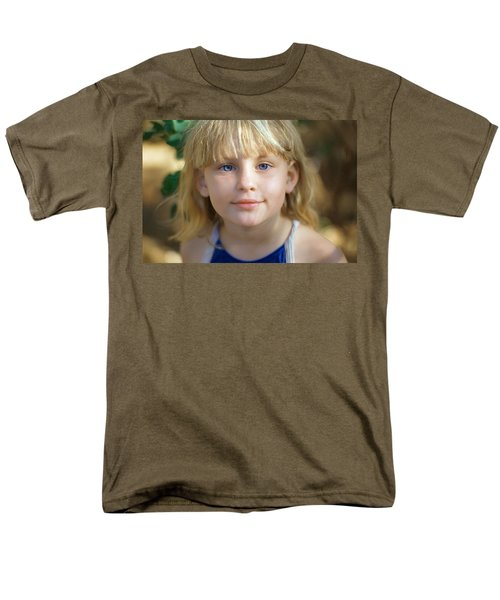 Portrait Of A Young Girl Men's T-Shirt  (Regular Fit) by Mark Greenberg