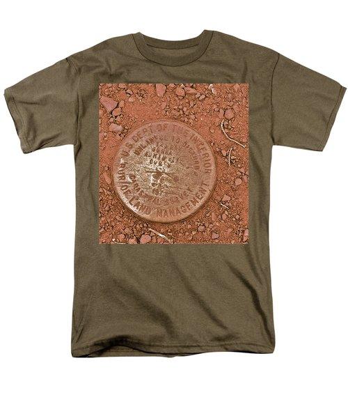 Men's T-Shirt  (Regular Fit) featuring the photograph Land Survey Marker by Bill Owen