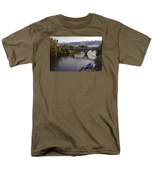 Last Light On Caveman Bridge Men's T-Shirt  (Regular Fit) by Mick Anderson