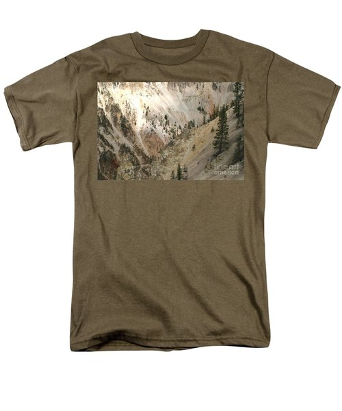 Men's T-Shirt  (Regular Fit) featuring the photograph Light And Shadows In The Grand Canyon In Yellowstone by Living Color Photography Lorraine Lynch