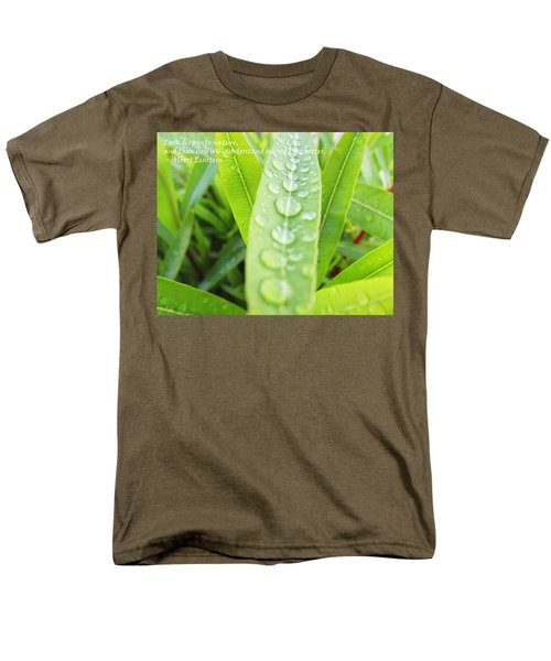 Look Deep Into Nature Men's T-Shirt  (Regular Fit)