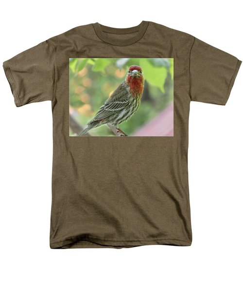Men's T-Shirt  (Regular Fit) featuring the photograph Male House Finch by Debbie Portwood