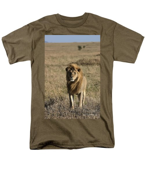 Male Lion's Gaze Men's T-Shirt  (Regular Fit) by Darcy Michaelchuk