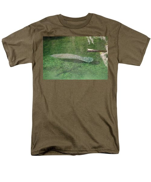 Manatee Men's T-Shirt  (Regular Fit) by Randy J Heath