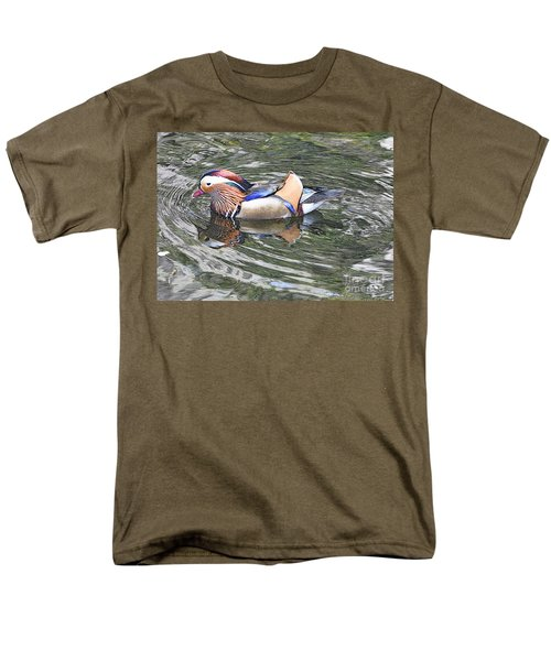Men's T-Shirt  (Regular Fit) featuring the photograph Mandarin Duck  by Lydia Holly