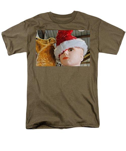 Men's T-Shirt  (Regular Fit) featuring the photograph Manniquin Santa 2 by Bill Owen