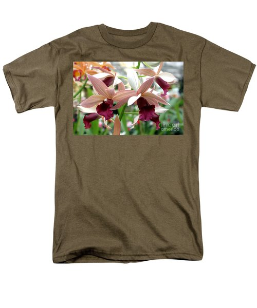 Men's T-Shirt  (Regular Fit) featuring the photograph Maroon Bloom by Debbie Hart