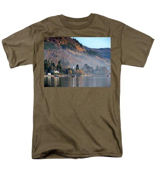 Men's T-Shirt  (Regular Fit) featuring the photograph Misty Autumn Morning by Lynn Bolt