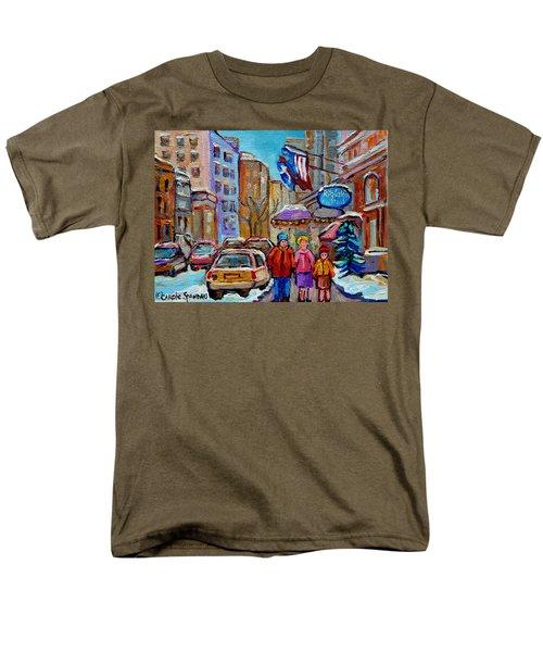 MONTREAL STREET SCENES IN WINTER T-Shirt by CAROLE SPANDAU