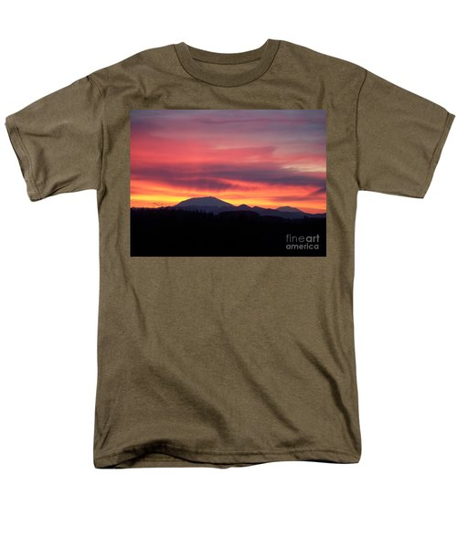 Men's T-Shirt  (Regular Fit) featuring the photograph Morning Glow by Chalet Roome-Rigdon