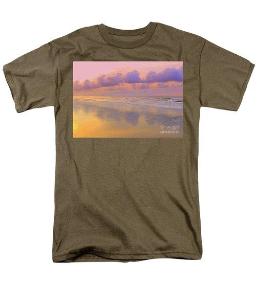 Men's T-Shirt  (Regular Fit) featuring the photograph Morning On The Beach  by Lydia Holly