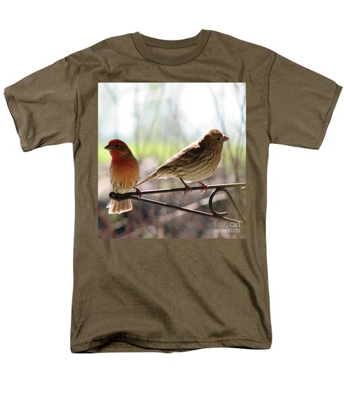 Men's T-Shirt  (Regular Fit) featuring the photograph Morning Visitors 2 by Rory Sagner