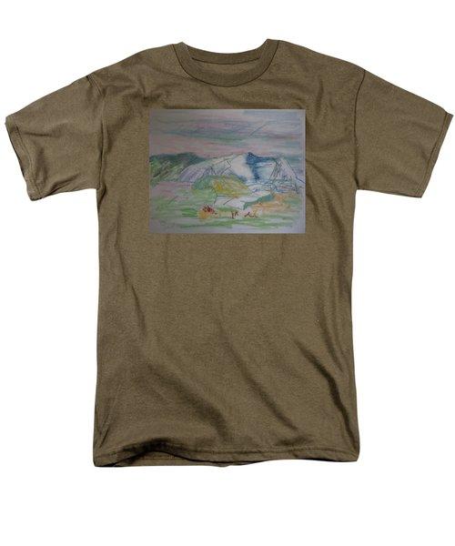 Mount Desert Back Side Men's T-Shirt  (Regular Fit) by Francine Frank