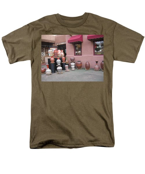 Men's T-Shirt  (Regular Fit) featuring the photograph Native Jars And Vases Market by Dora Sofia Caputo Photographic Art and Design