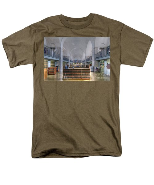 Men's T-Shirt  (Regular Fit) featuring the photograph Nebraska State Capitol Library by Art Whitton