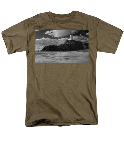 Men's T-Shirt  (Regular Fit) featuring the photograph Niwbwrch Lighthouse by Beverly Cash