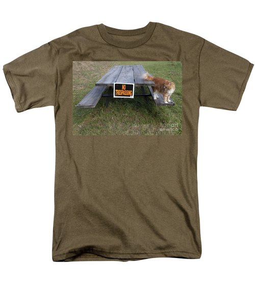 Men's T-Shirt  (Regular Fit) featuring the photograph No Trespassing by Jeannette Hunt