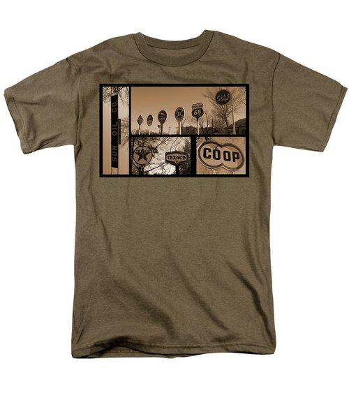 Oil Sign Retirement Men's T-Shirt  (Regular Fit) by Betty Northcutt