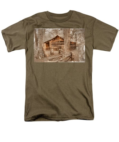 Old Mill Work Cabin Men's T-Shirt  (Regular Fit) by Dan Stone