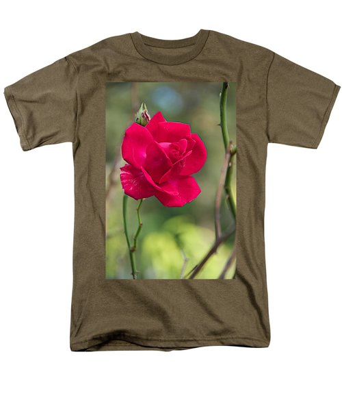 Men's T-Shirt  (Regular Fit) featuring the photograph One Rose by Joseph Yarbrough