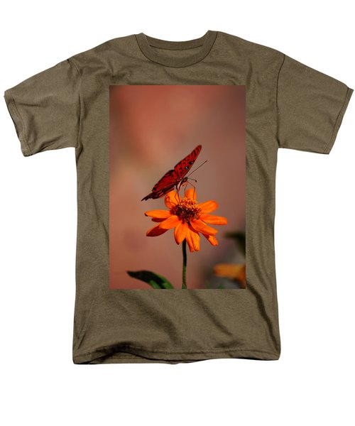 Orange Butterfly Orange Flower Men's T-Shirt  (Regular Fit)