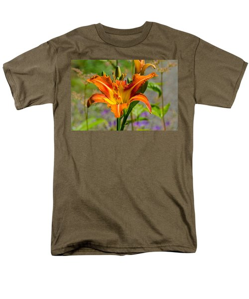 Men's T-Shirt  (Regular Fit) featuring the photograph Orange Day Lily by Tikvah's Hope