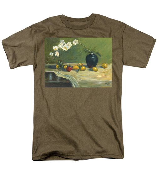 Men's T-Shirt  (Regular Fit) featuring the painting Orchids And Vase by Marlyn Boyd
