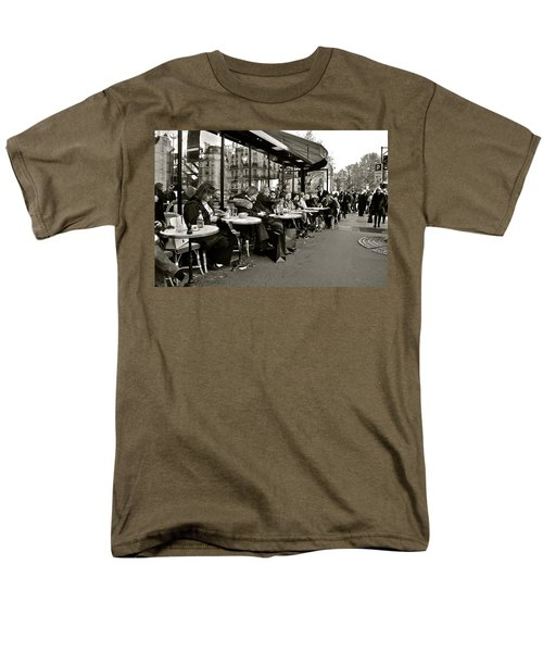 Men's T-Shirt  (Regular Fit) featuring the photograph Paris Cafe by Eric Tressler