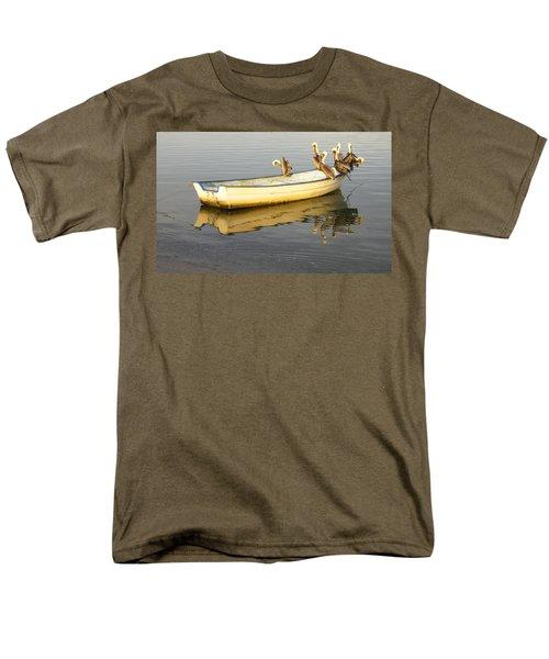 Men's T-Shirt  (Regular Fit) featuring the digital art Pelican Express by Anne Mott