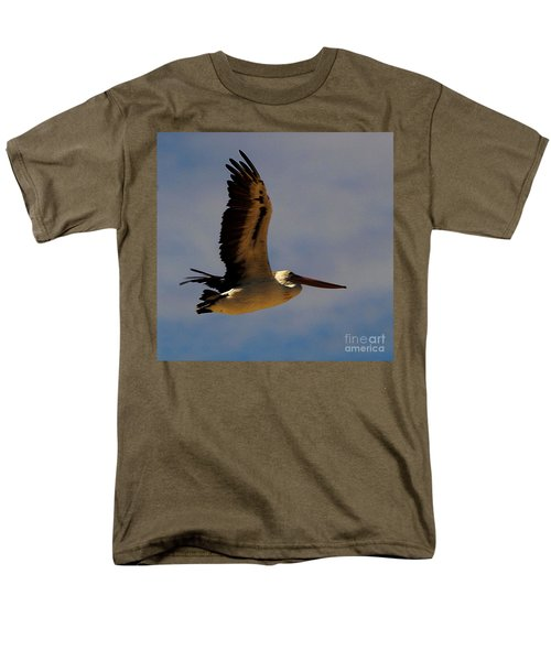 Men's T-Shirt  (Regular Fit) featuring the photograph Pelican In Flight by Blair Stuart
