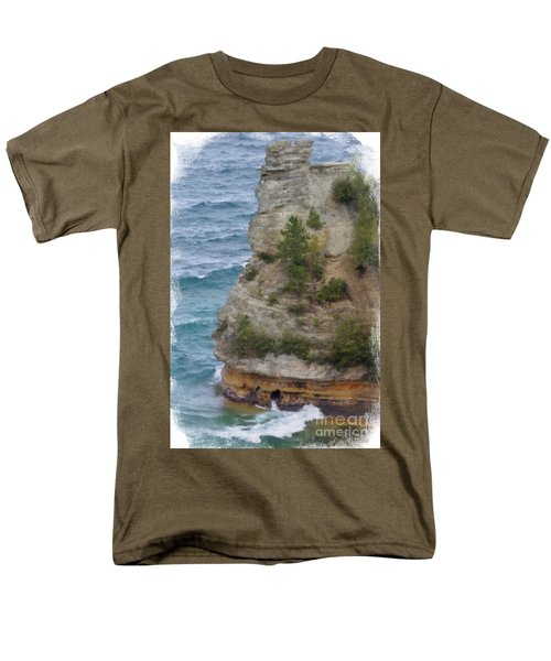 Men's T-Shirt  (Regular Fit) featuring the photograph Pictured Rocks In Oil by Deniece Platt