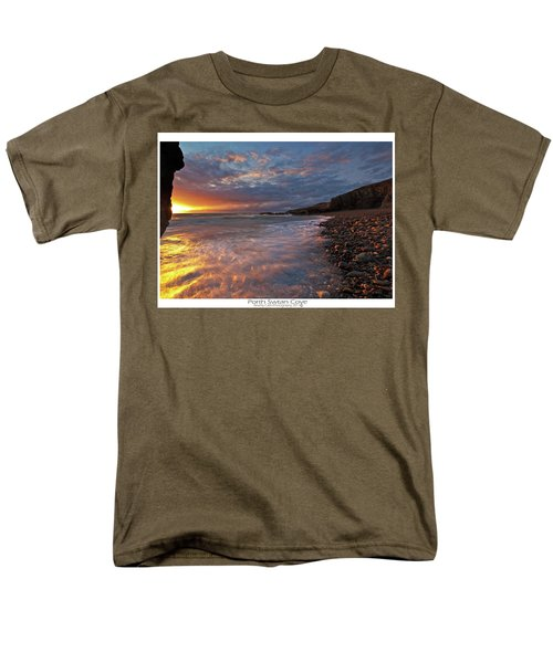 Men's T-Shirt  (Regular Fit) featuring the photograph Porth Swtan Cove by Beverly Cash
