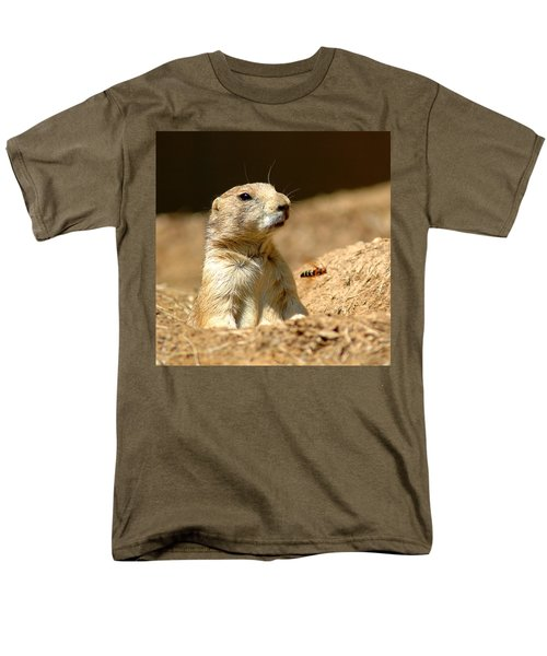 Prarie Dog Bee Alert Men's T-Shirt  (Regular Fit) by LeeAnn McLaneGoetz McLaneGoetzStudioLLCcom