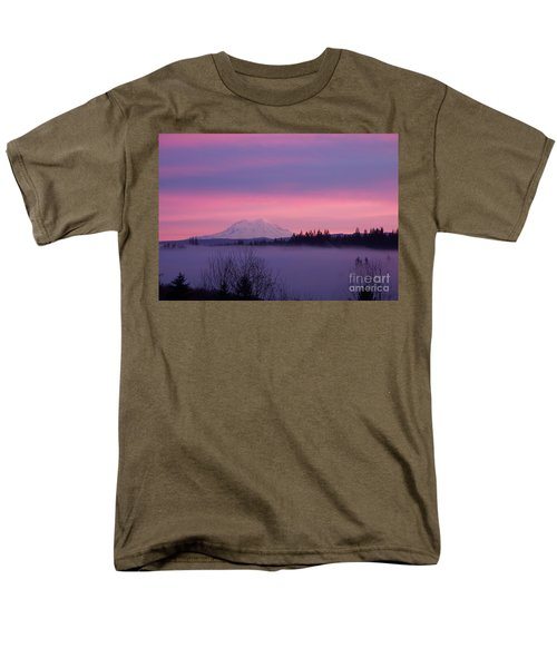 Men's T-Shirt  (Regular Fit) featuring the photograph Purple Mountain Majesty by Chalet Roome-Rigdon