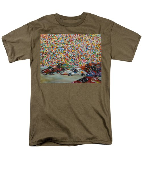 Men's T-Shirt  (Regular Fit) featuring the painting Race Day by Judith Rhue