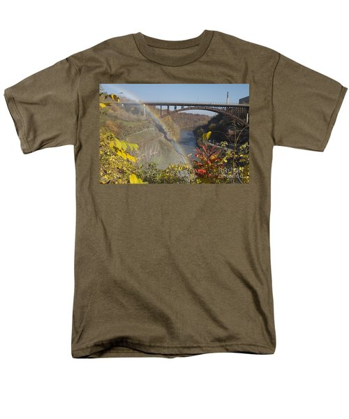 Men's T-Shirt  (Regular Fit) featuring the photograph Rainbow At Lower Falls by William Norton