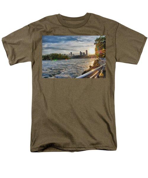 Men's T-Shirt  (Regular Fit) featuring the photograph Rapids Sunset by Michael Frank Jr