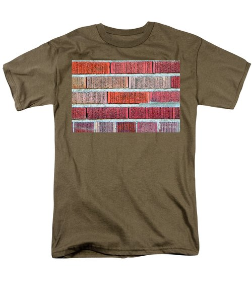 Red Brick Wall Men's T-Shirt  (Regular Fit) by Henrik Lehnerer