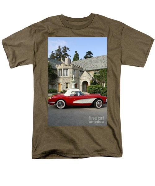 Red Corvette Outside The Playboy Mansion Men's T-Shirt  (Regular Fit) by Nina Prommer