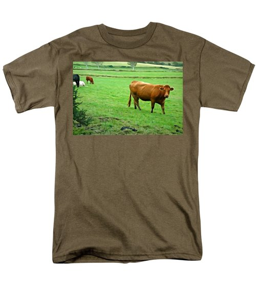 Men's T-Shirt  (Regular Fit) featuring the photograph Red Cow by Charlie and Norma Brock