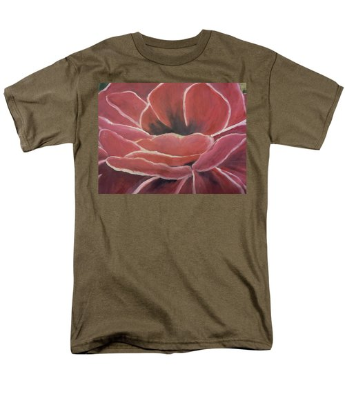 Men's T-Shirt  (Regular Fit) featuring the painting Red Flower by Christy Saunders Church