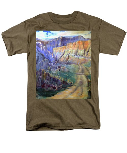 Road To Rainbow Gulch Men's T-Shirt  (Regular Fit) by Gertrude Palmer
